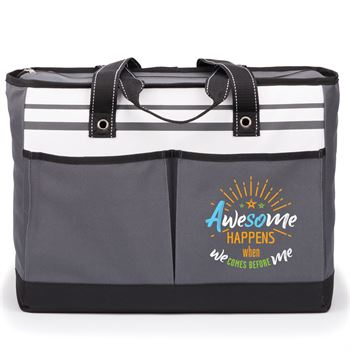 Awesome Happens When We Comes Before Me Traveler Two-Pocket Tote Bag