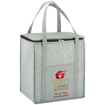 Food & Nutrition Services: We Put Love On Every Plate Verona Non-Woven Insulated Shopper Tote