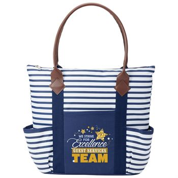 Guest Services Team: We Strive For Excellence Nantucket Tote Bag