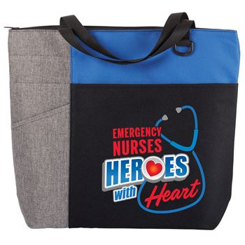 Emergency Nurses: Heroes With Heart Ashland Tote Bag