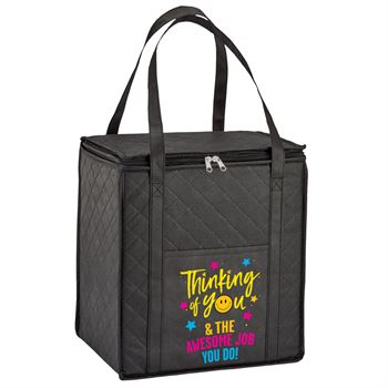 Thinking Of You & The Awesome Job You Do Verona Non-Woven Insulated Shopper Tote