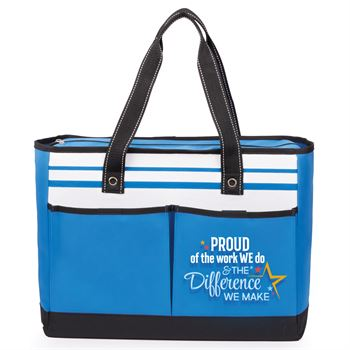 Proud Of The Work We Do And The Difference We Make Traveler Two-Pocket Tote Bag