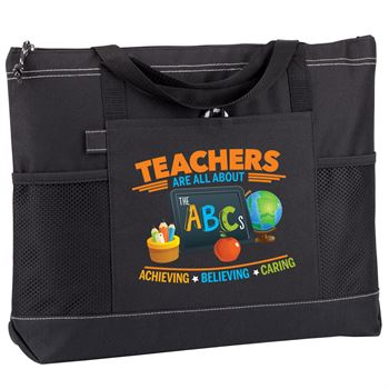 Teachers Are All About The ABCs Moreno Multi-Pocket Tote Bag