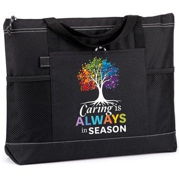 Caring Is Always In Season Moreno Multi-Pocket Tote Bag