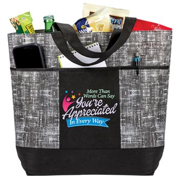 More Than Words Can Say You're Appreciated In Every Way Malibu Non-Woven Tote Bag