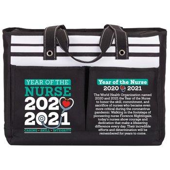 Year Of The Nurse Traveler Two-Pocket Tote Bag