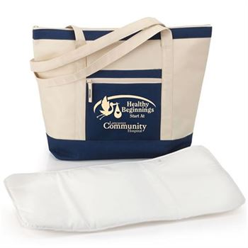 Seaside Non-Insulated Tote With Changing Pad - Personalization Available