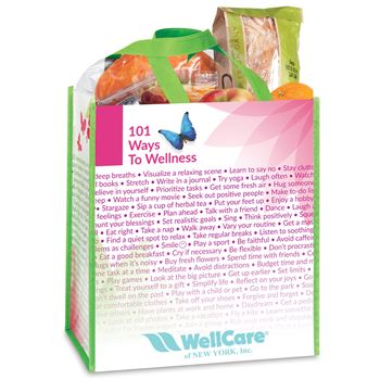101 Ways To Wellness Non-Insulated Laminated Eco-Shopper Tote Bag - Personalization Available