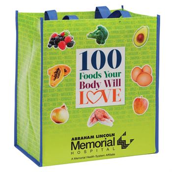 100 Foods Your Body Will Love Non-Insulated Laminated Eco-Shopper Tote Bag - Personalization Available