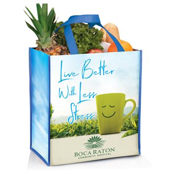 Live Better with Less Stress Full-Color Laminated Eco-Shopper Tote - Personalization Available