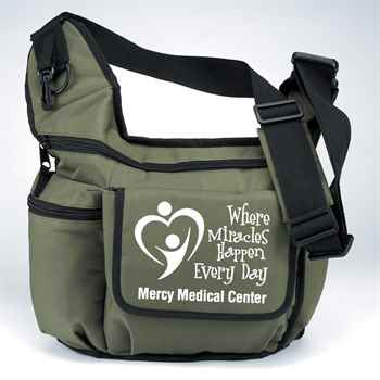 Olive Green On-The-Go Unisex Insulated Sling Diaper Bag - Personalization Available