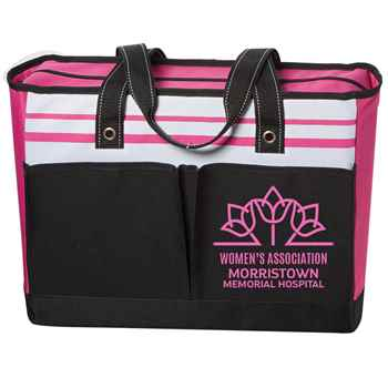 Pink Traveler Two-Pocket Tote Bag - Personalization Available