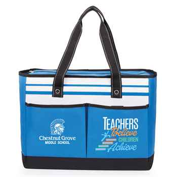 Teachers Believe, Children Achieve Traveler Two-Pocket Tote Bag Plus Personalization