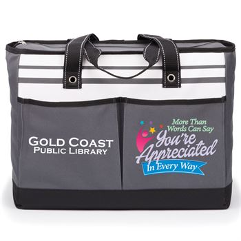 More Than Words Can Say, You're Appreciated In Every Way Positivity Traveler Two-Pocket Tote Bag Plus Personalization