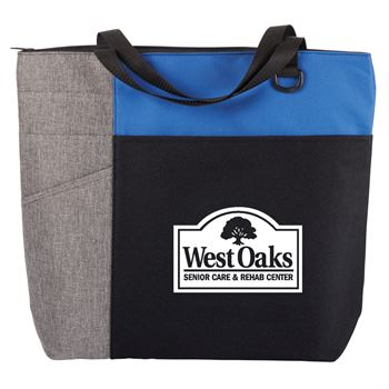 Blue/Gray Ashland Tote Bag - Personalization Available
