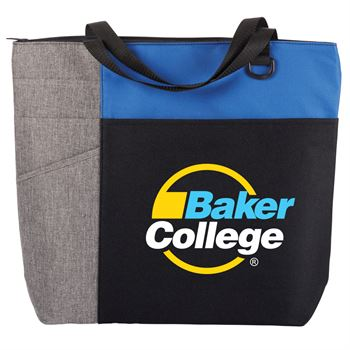 Blue/Gray Ashland Tote Bag - Full Color Personalization Available