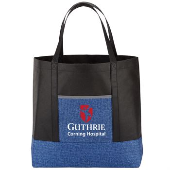 Blue Denim Non-Woven Tote Bag - Full Color Personalization Available
