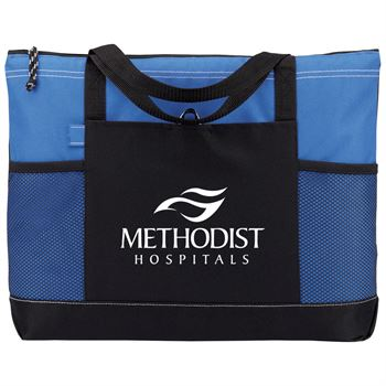 Moreno Multi-Pocket Blue Tote Bag - Personalization Available
