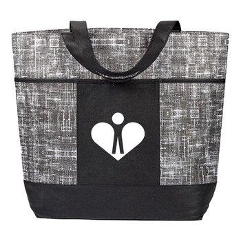 Malibu Non-Woven Black Tote Bag - Personalization Available