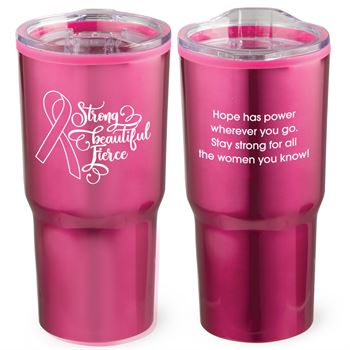 Strong, Beautiful, Fierce Timber Insulated Stainless Steel Travel Tumbler 20-Oz.