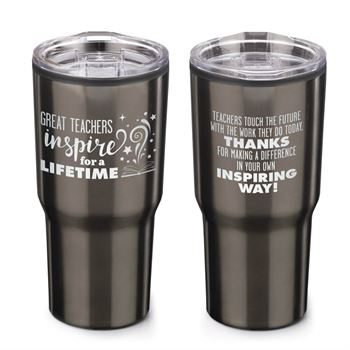 Great Teachers Inspire For A Lifetime Timber Insulated Stainless Steel Travel Tumbler