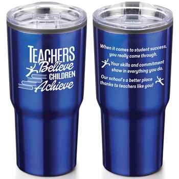 Teachers Believe, Children Achieve Timber Insulated Stainless Steel Travel Tumbler 20-Oz.
