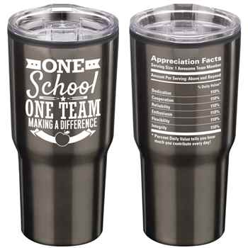 One School, One Team: Making A Difference Timber Insulated Stainless Steel Travel Tumbler 20-Oz.