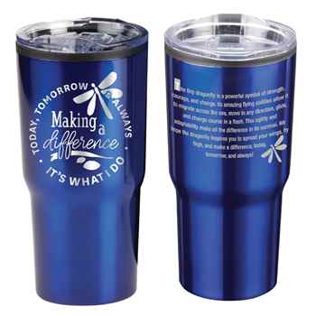 Making A Difference Today, Tomorrow & Always Timber Insulated Stainless Steel Travel Tumbler 20-Oz.