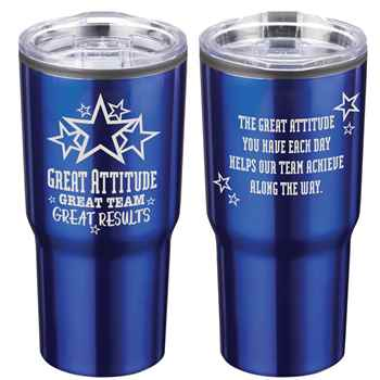 Great Attitude, Great Team, Great Results Timber Insulated Stainless Steel Travel Tumbler 20-Oz.