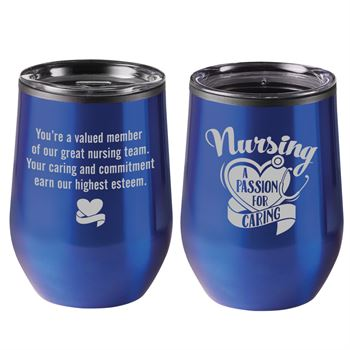 Nursing A Passion For Caring Riviera Blue Stainless Steel Tumbler 12-Oz.