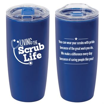 Living The Scrub Life Sierra Insulated Acrylic Tumbler 19-Oz.