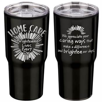 Home Care: Brightening Lives Every Day Timber Insulated Stainless Steel Travel Tumbler 20-Oz.