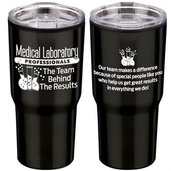 Medical Laboratory Professionals: The Team Behind The Results Timber Insulated Stainless Steel Travel Tumbler 20-Oz.