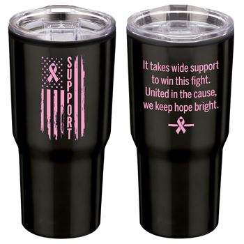 Support Flag Timber Insulated Stainless Steel Travel Tumbler 20-Oz.