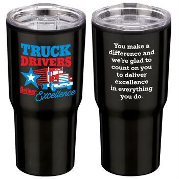 Truck Drivers Deliver Excellence Timber Insulated Stainless Steel Travel Tumbler 20-Oz.
