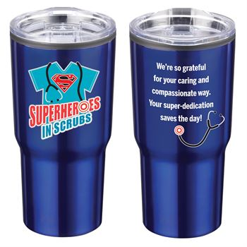 Superheroes In Scrubs Timber Insulated Stainless Steel Travel Tumbler 20-Oz.
