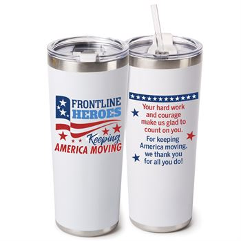 Frontline Heroes Keeping America Moving Stockton Stainless Steel Vacuum Tumbler 20-Oz.