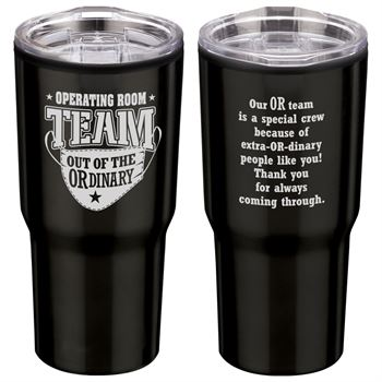 Operating Room Team: Out Of The OR-dinary Timber Insulated Stainless Steel Travel Tumbler 20-Oz.