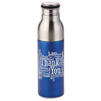 Thank You (Word Cloud) Double Take Bottle-To-Tumbler