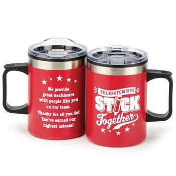 Phlebotomists Stick Together Sonoma Stainless Steel Mug 12-Oz.