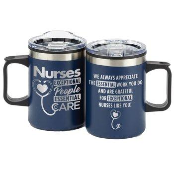 Nurses: Exceptional People, Essential Care Blue Sonoma Stainless Steel Mug 12-Oz.