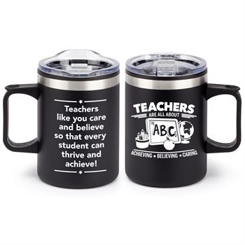 Teachers Are All About The ABC's Sonoma Stainless Steel Mug 12 Oz.