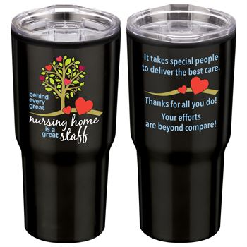 Behind Every Great Nursing Home Is A Great Staff Timber Insulated Stainless Steel Travel Tumbler 20 Oz.