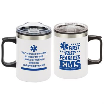 EMS: First. Fast. Fearless Sonoma Stainless Steel Mug 12-Oz.