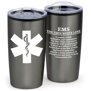EMS: The Thin White Line Teton Stainless Steel Tumbler 20-Oz.