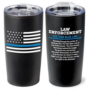 Law Enforcement The Thin Blue Line Teton Stainless Steel Tumbler 20-oz.