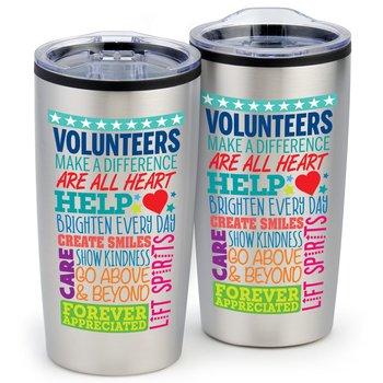 Volunteer Word Cloud Teton Stainless Steel Tumbler 20-oz.