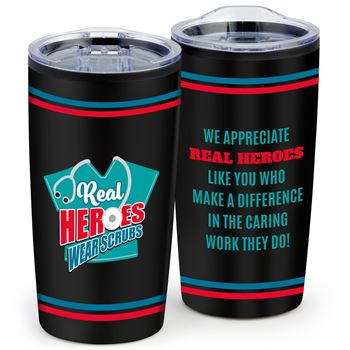 Real Heroes Wear Scrubs Teton Stainless Steel Tumbler 20-Oz.