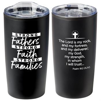 Strong Fathers, Strong Faith, Strong Families Sonoma Stainless Steel Mug 12-Oz.