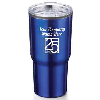 25th Anniversary Blue Timber Insulated Stainless Steel Travel Tumbler 20-Oz. - Personalization Available